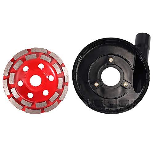 CAMWAY Absaughaube für Hitachi Winkelschleifer 100-150mm mit Diamantschleiftopf 125x22,2 mm NEU