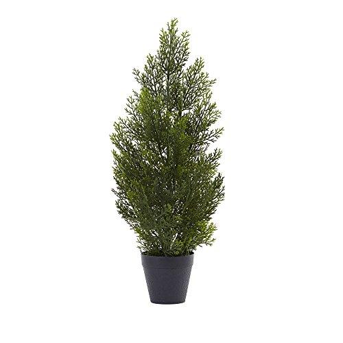 Nearly Natural 2ft. Mini Cedar Pine (Indoor/Outdoor) Silk Trees Green