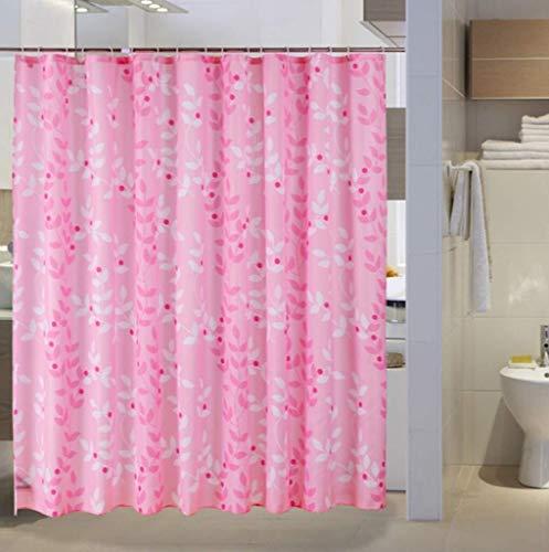 ZHUXING Cortina de ducha, impermeable, material de poliéster para evitar el moho, 80 x 180 cm, 300 x 200 cm (tamaño: 200 x 180 cm) (color: 150 x 180 cm)