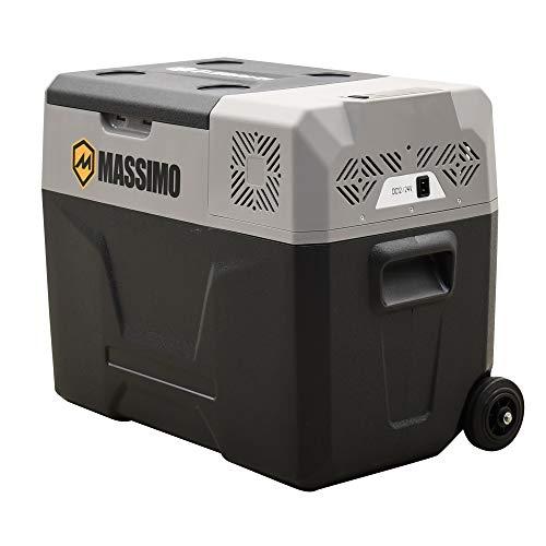 Massimo refrigerador eléctrico de 40 l con ruedas y mango telescópico, refrigerador portátil de 12 V CC CA, congelador de viaje para...