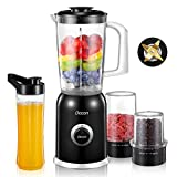 Decen Personal Blender for Shakes and Smoothies, Portable Mixers with 20oz BPA-Free Blender Bottle, Small Size Smoothie Blender and Juice Maker for Home, Office, Sports, Travel, Outdoors, 300W High-Speed Power, Multifunctional