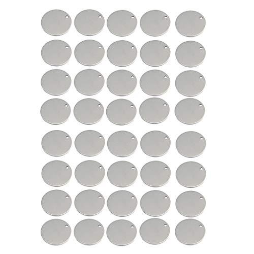 Colcolo 40x Círculo en Blanco Gota Estampado Encantos Colgantes Resultados de La Joyería 6 Mm