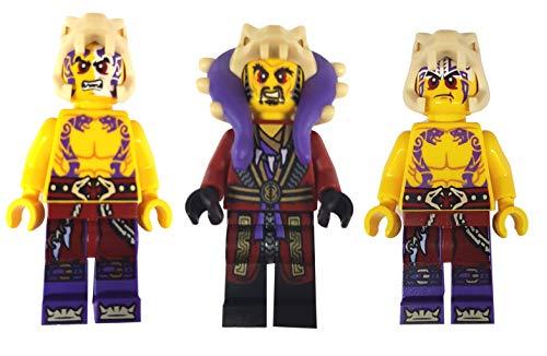 LEGO Ninjago - Juego de 3 figuras Ninjago (Master Chen, Krait y Sleven)