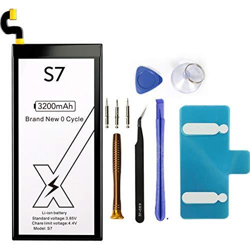 DEJIMAX Akku für Samsung Galaxy S7, 3200mAh Lithium Polymer für Galaxy S7 für EB-BG930ABE G930V,G930A