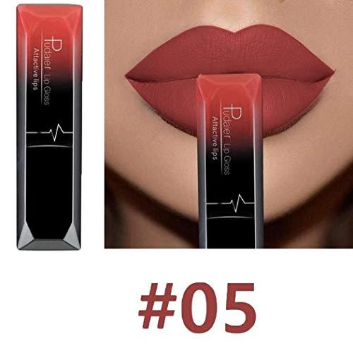 Tiowea Damesschoonheids-duurzame make-upcosmetica-waterdichte lippenstift-lipgloss lipgloss Klein Kleur 5
