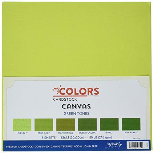18 St/ück Mehrfarbig 30,5 x 30,5 cm My Colors 210035 Braunt/öne Leinen-Kartonb/ündel