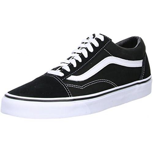 Vans UA Old Skool, Scarpa da Corsa Unisex-Adulto, Nero (Black/White), 37 EU