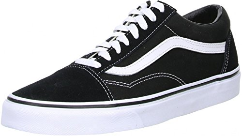 Vans Old Skool, Zapatillas Unisex Adulto, Negro (Black/White), 36