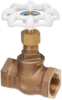 "Milwaukee Valve UP502 Series Bronze Globe Valve, Potable Water Service, Inline, Threaded Bonnet, 1/2"" NPT Female from Milwaukee Valve"