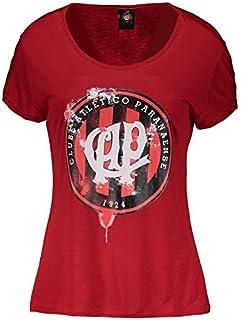 Camiseta Atlético Paranaense Ink Vermelha Feminina