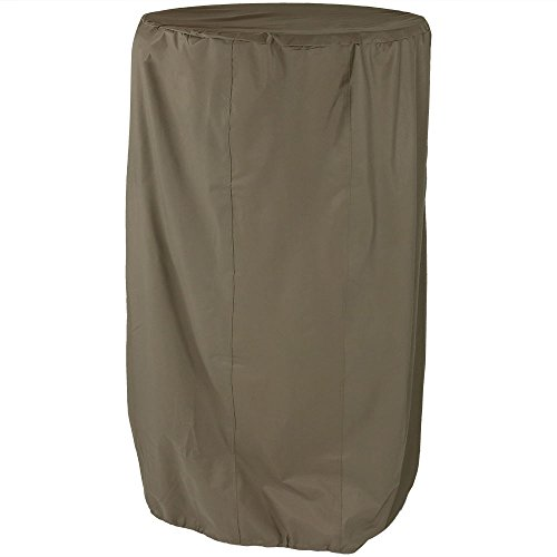 Sunnydaze Khaki Outdoor Water Fountain Cover, 38 Inch Diameter, 70 Inch Tall