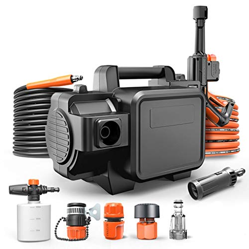 ROMX Electric Pressure Washer 1450 PSI, 8L/min High Pressure Power Washer Machine with Adjustable Nozzle, Hose Reel, Detergent Tank Best for Cleaning Homes/Buildings/Cars, Decks, Driveways, Patios