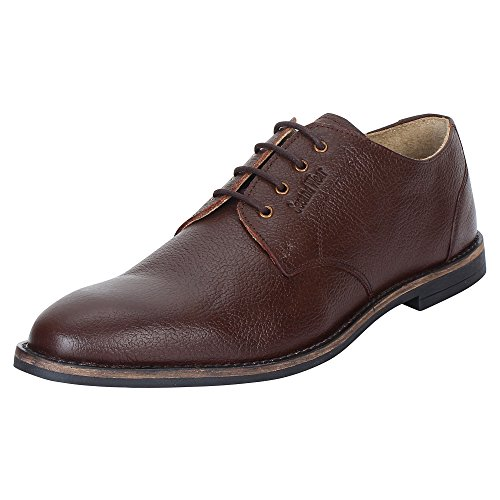 SeeandWear Brown Formal Shoes for Men Leather Pointed Lace Up Shoe (11)