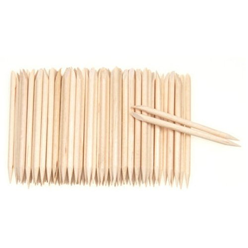Lot de 100 repousse-cuticules en bois pour nail art