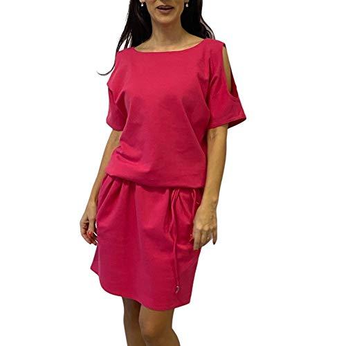 MAJESTO Karen - Vestido corto para mujer con bolsillos y cordones - rosa - Large