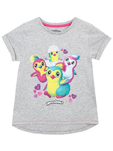 Hatchimals Camiseta para niñas Penguala Gris 5-6 Años