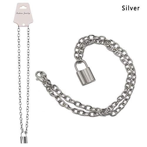 EDCV 1pc punk sieraden goud zilver kleur hanger ketting roestvrij stalen kabel ketting ketting, s