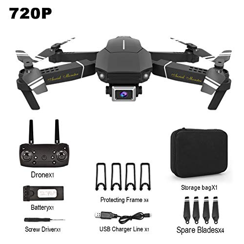 Patzbuch Mini Drone with HD Camera, 4K 1080P / 720P RC Drone Foldable RC Quadcopter, Durable Airplane Toy RC Drone for Kids