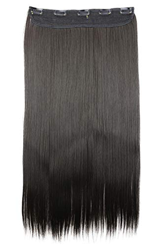 PRETTYSHOP Clip In Extensions Haarverlängerung Haarteil Glatt 60cm brünett #8 C53