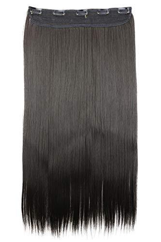 PRETTYSHOP 60cm Clip In Extensions Haarverlängerung Haarteil Glatt Brünett C53