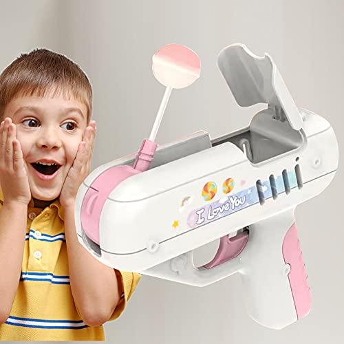 LICHENGTAI Candy Gun Sugar Lollipop Gun Candy Toy, Juguete Creativo de Piruleta de Azúcar, Lollipop Storage Gun, Ideas Sorpresa Regalos Creativos para Niños y Niñas, Rosa