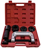 RAM-PRO Ball Joint Press Service Repair Kit, Removal Tool Set, 2/4 Wheel Drive Vehicle Remover Installer Adapters – Also Used to Remove/Install Brake Anchor Pins and U-Joints (10 Pcs)