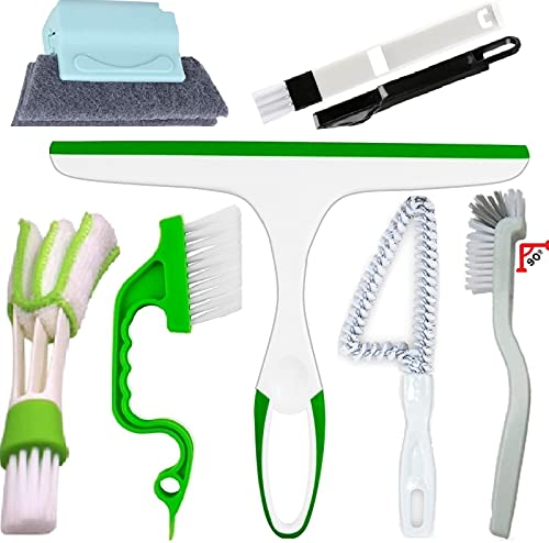 Window Groove Cleaning Bursh Set-Track Cleaning Tools-Hand-Held Door Window Sliding Track Crevice Gap Corner Cleaning Brush for Shower Doors House Glass Cleaning Tools Gadgets Kits