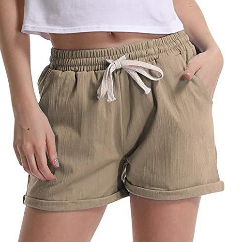 Pantaloni da Donna Summer da Pantaloni Lhwy Donna Casual Moderna Elastic Pantaloni da Tasca Mini Casual Pantaloni Short da Donna Traspiranti Pantaloni da Ginnastica da Jogging