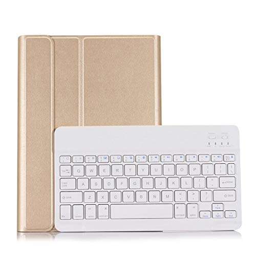 for Tablet Bluetooth Keyboard Gq ST870S for Samsung Galaxy Tab S7 T870/T875 11 inch 2020 Ultra-Thin Detachable Bluetooth Keyboard Leather Case with Stand & Sleep Function & Backlight (Color : Gold)