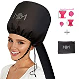 Best Soft Bonnet Hair Dryers - Bonnet Hair Dryer Attachment-W/ 10 Silicone Hair Curlers-Extra Review
