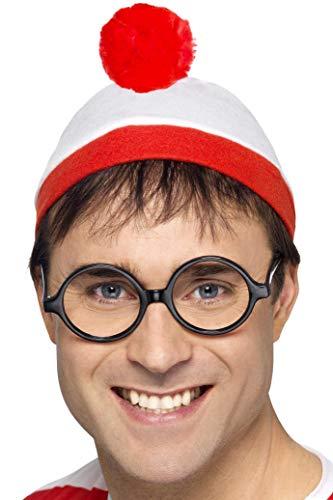 Smiffys Licenciado oficialmente Où est Charlie ? Kit instantané, Rouge et blanc, avec chapeau et lunettes