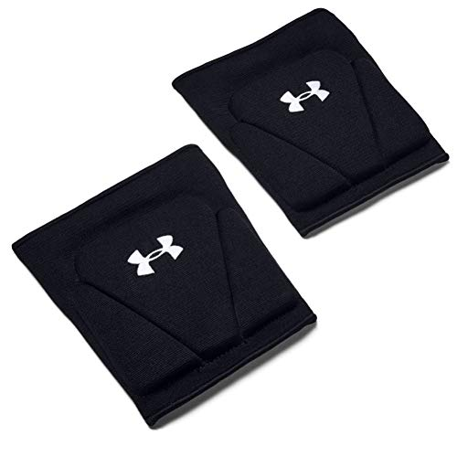 Under Armour Adult Strive 2.0 Volleyball Knee Pad , Black (001)/White , Medium