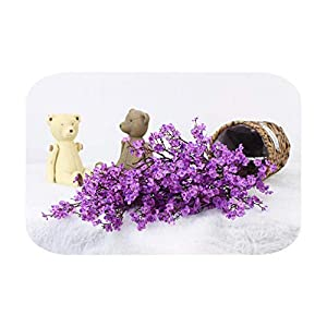 Silk Flower Arrangements F-pump Artificial Flower Baby's Breath Gypsophila for Wedding Home New Year Decoration Fall Winter Decorations Fake Flower-Purple-