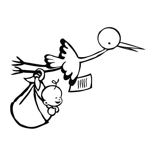 Aladine 01282 Stempel mit Storch und Baby