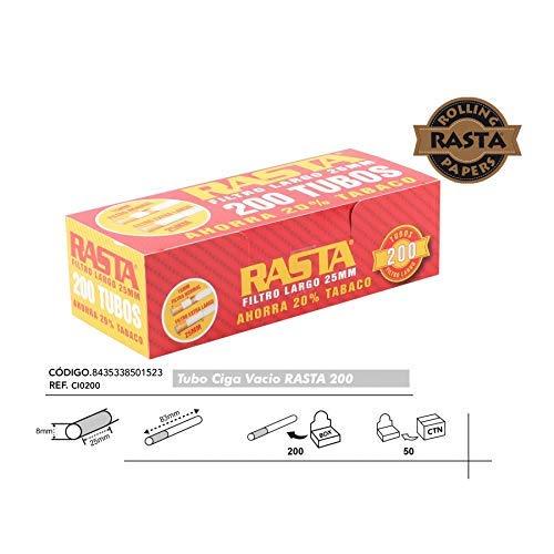 2000 Cigarrillos tubos vacios Rasta filtro largo 2,5cms. formato 100 unid. caja. Nuevos