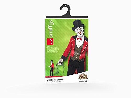 Smiffys Costume Sinistro Direttore di Circo, Rosso e Nero, comprende Giacca, Camicia Fin, taglia M