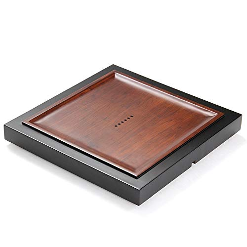 Buy SHIFENX Square Bamboo Tea Tray with Round Holes, Size: 41 x 41 x 4.3cm Durable