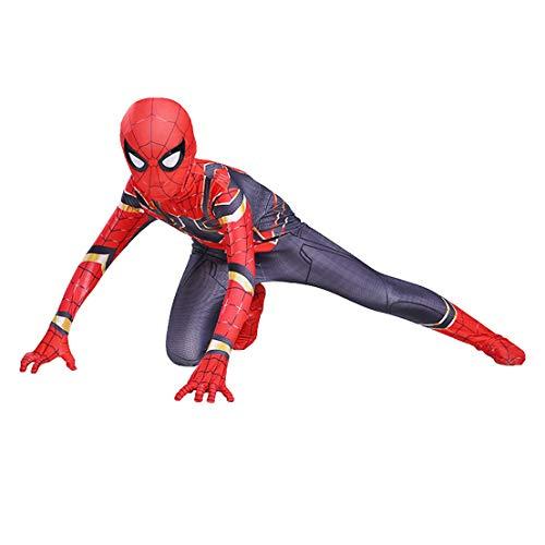 MODRYER Traje del Hombre araña niños Carnaval Fiesta de Halloween Cosplay del Mono del Vestido de Lujo Bodies Superhero Spandex Lycra Traje Body,Far from home-Kids/S/110cm