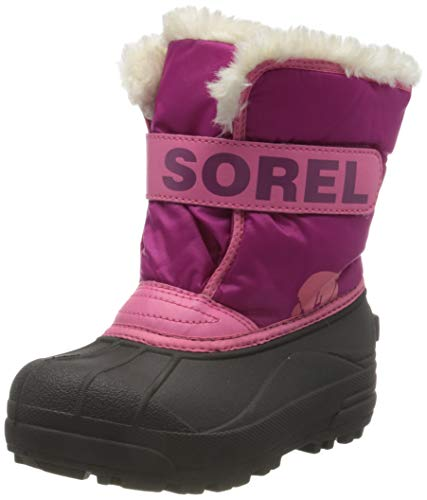 Sorel Unisex-Kinder Childrens Snow Commander Schneestiefel, Tropic Pink, Deep Blush, 45.5 EU