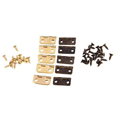 HKRSTSXJ 50 unids 16x13mm gabinete Antiguo bisagras Accesorios de Muebles Cajas de Joyas pequeñas bisagras Muebles Accesorios (Color : Bronze, Size : A)