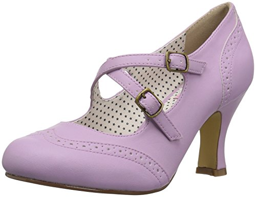 Pin up Couture FLAPPER-35 Lavender Faux Leather UK 6 (EU 39)