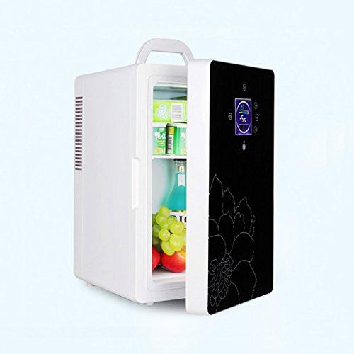 JGWJJ 16L 220 v 12 v Dual-Core LCD Affichage Mini Voiture Réfrigérateur ABS Multi-Fonction Accueil Refroidisseur Congélateur Chauffe Portable Auto Réfrigérateur Congélateur (Color : Black)