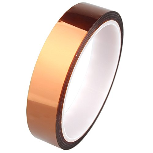 HALJIA 20 mm x 33 m/100 Ft Polyimide High Temperature Heat Resistant Tape for 3D Printer Spacer Cabinet/Electric Task/Printed Circuit Board Solder Task/Insulating Temperature Resistant up to 280 'C