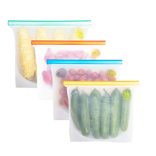 Silicone_Inventions Reusable Silicone Food Storage Bag 17 pcsBeeswax Food WrapFood Storage bagsStretch LidsEco-Friendly Sandwich BagsReusable Wrap and CoversShelf Liner MatFood Saver Bag