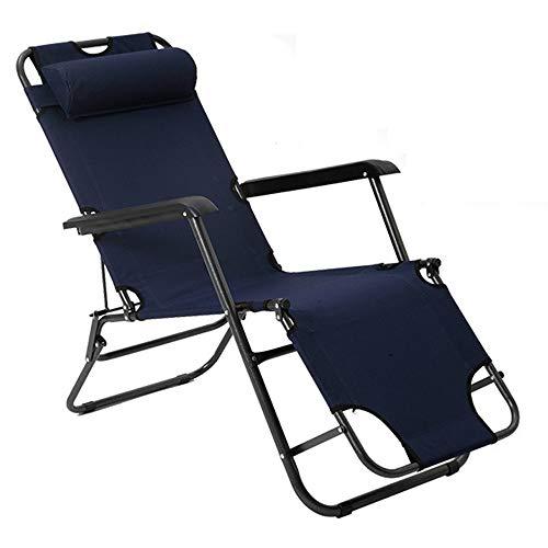 Unbne Sillón reclinable Plegable Zero Gravity Lunch Break Bed Reclinable Silla de jardín reclinable Cama de Playa Ligera Tumbona de Ocio al Aire Libre