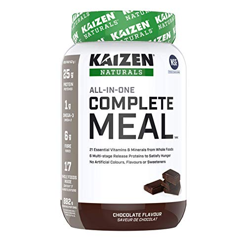 Kaizen Naturals All-In-One Complete Meal Powder, NSF Certified, Non-GMO, Chocolate Flavour, 882 Gram