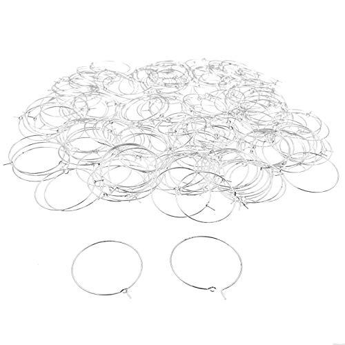 JZK 200 Pezzi 30 mm Argento anellini Anelli segna calici segnabicchieri ciondoli segna Bicchieri ciondoli segnaposto, Cerchi segna Posto ai Bicchieri di Vino, Piccoli Anelli Metallo per orecchino