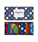 Happy Socks Men's Mix Gift Box Socks, Blue (Navy 6000), 7-10 (Manufacturer Size:41-46) (Pack of 4)