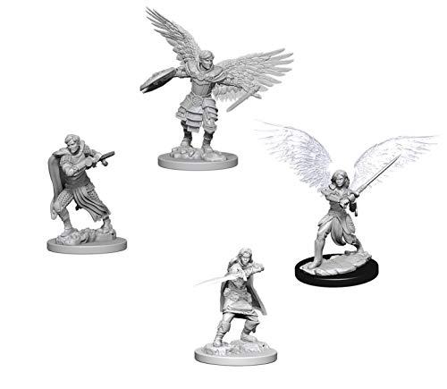 Dungeons & Dragons Nolzur's Marvelous Unpainted Miniatures Bundle: Aasimar Male Fighter & Aasimar Female Fighter
