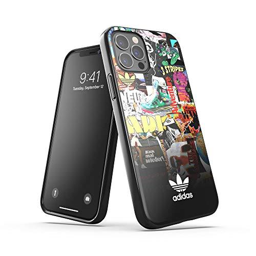 adidas Hülle Entwickelt für iPhone 12 / iPhone 12 Pro 6.1, Fallgeprüfte Hüllen, stoßfeste erhöhte Kanten, Original Snap Hülle Schutzhülle, Grafik/Bunt